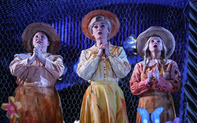 Natasha Wilson (centre) in NZ Opera's Elixir of Love