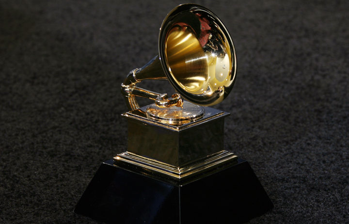 The trophy of the Grammy Awards in Los Angeles in 2007.