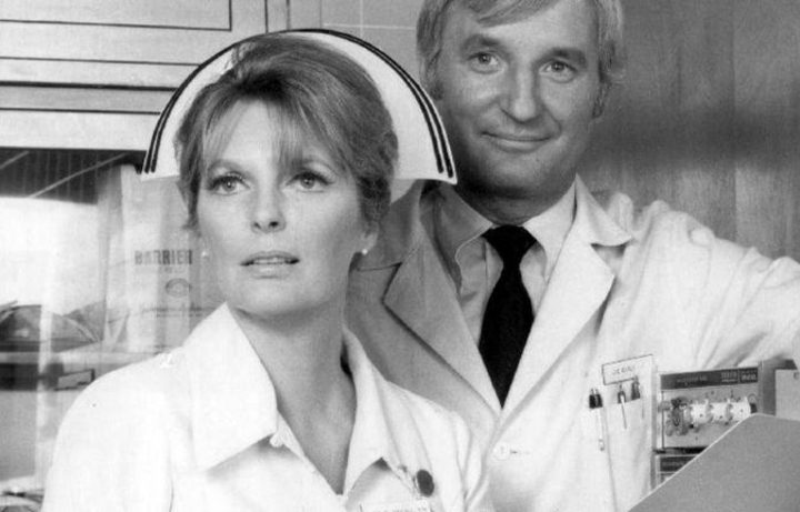 Julie London (Dixie McCall) and Bobby Troup (Dr. Joe Early) from the television program Emergency.