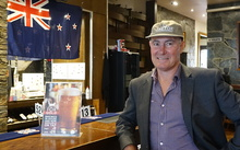 Brett MacLean at his sports bar, The Fox, ahead of the Rugby World Cup 2015 final between the All Blacks and Australia.
