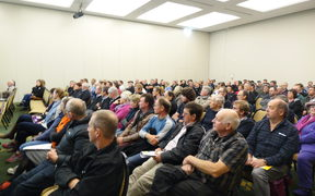 There was a big turn out in Nelson today for the government roadshow on M Bovis.