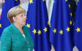 German Chancellor Angela Merkel attends the EU Leaders summit in Belgium, to focus on the migrant issue, the relations with the US, cooperation in defense and security, and the economic and monetary union.