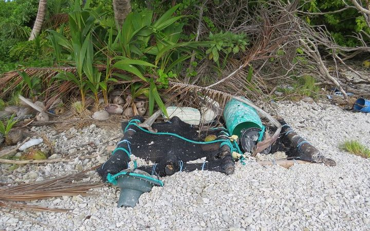 Debris from FADs found on Cooks' Suwarrow Atoll