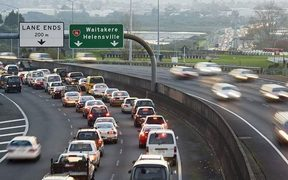 Traffic on Auckland's motorways