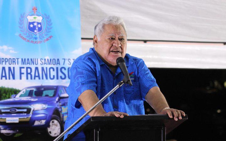 Prime Minister and Samoa Rugby Chair, Tuilaepa Sailele Malielegaoi