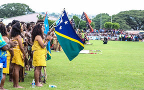 Crowds gathered to watch the opening of the 6th Melanesian Arts Festival in Solomon Islands.