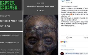 The business decided to stop selling mokomokai or fake mummified Māori tattoed heads.