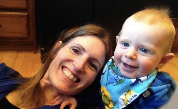 Dr Annette Henderson and her son Jaxson