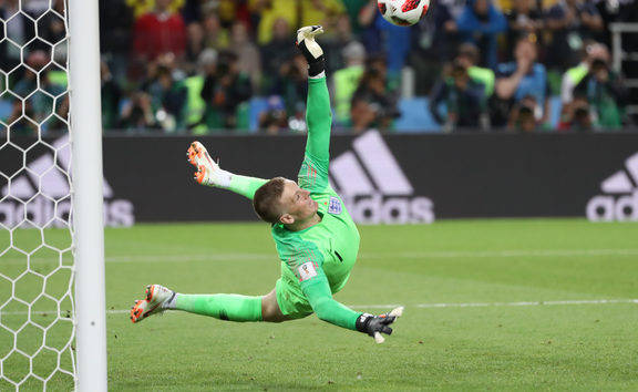 England's Jordan Pickford makes match winning save