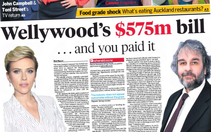 The Weekend herald front page headlining the 'Inside Wellywood' investigative series.