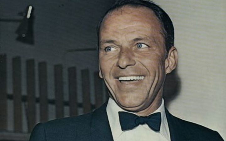 Frank Sinatra on the cover of the 1966 German album version of 'Strangers in the Night'