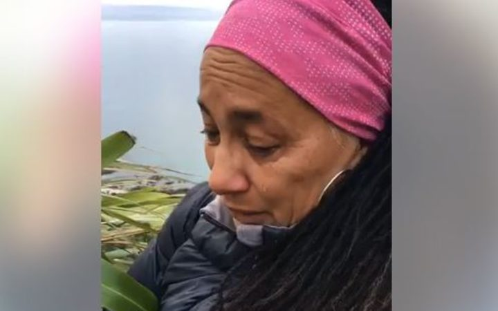 In an extraordinary live video, a distraught Anihera Black said her late husband had been abused as a child and had gone on to be a predator himself.