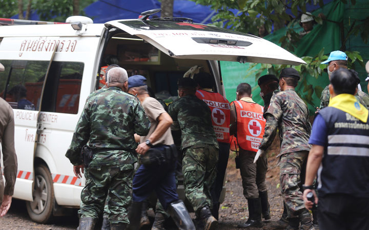 Ninth boy emerges from Thai cave on final day of rescue