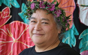 Ngavaine John teaches Cook Islands Maori at Toru Fetu Kindergarten.