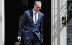 Britain's new Brexit Minister Dominic Raab leaves 10 Downing Street on July 9, 2018.