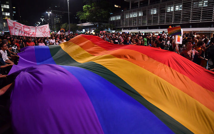 Last year protestors in Sao Paolo demonstrated against the decision of a Brazilian judge who approved conversion therapy.