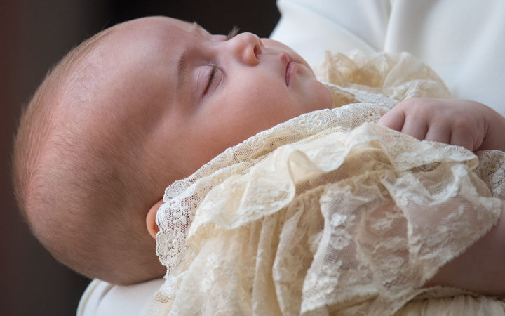 Prince Louis has been christened in a private ceremony.