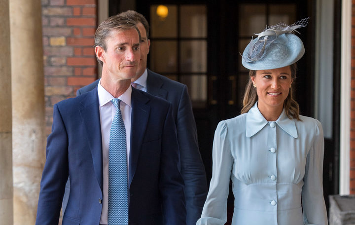 Pippa Middleton arrives with her husband James Matthews.