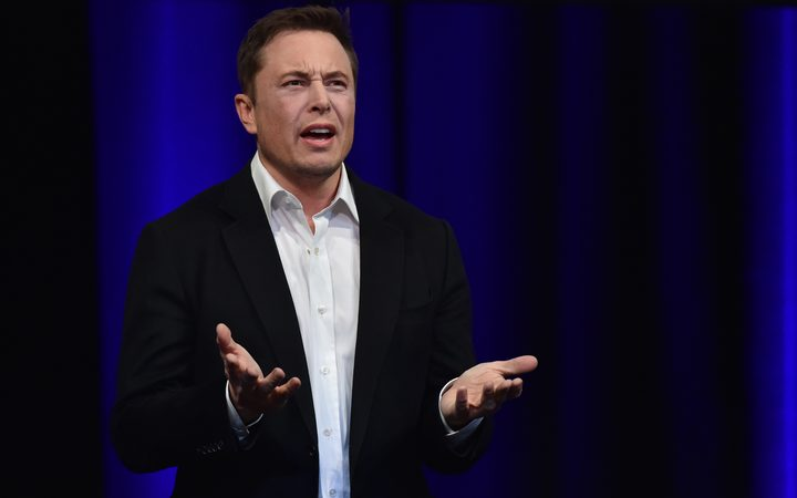 Billionaire entrepreneur and founder of SpaceX Elon Musk speaks at the 68th International Astronautical Congress 2017 in Adelaide on September 29, 2017. 