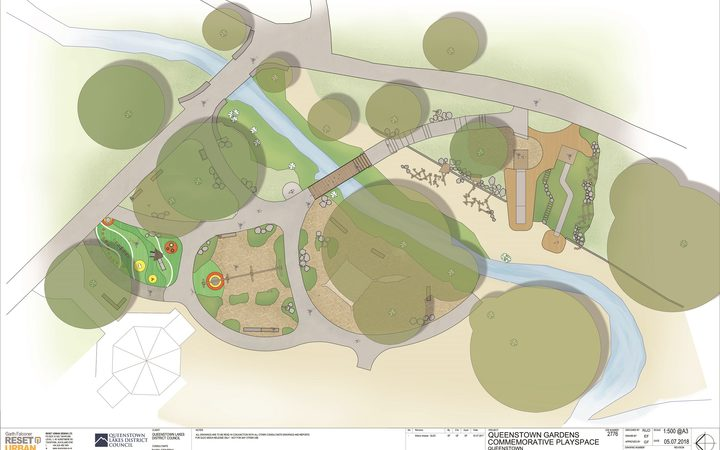 Plans for the Queenstown Gardens Commemorative play space.