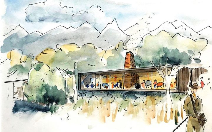Concept designs for the accommodation complex at Fiordland National Park.