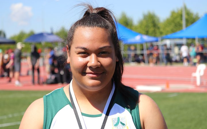 NZ shot putter Maddison Wesche.