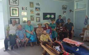 House of Ariki Paramount Chiefs with Liam Kokaua in front