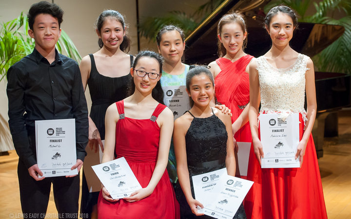 Finalists of the 2018 Wallace National Junior Piano Competition
