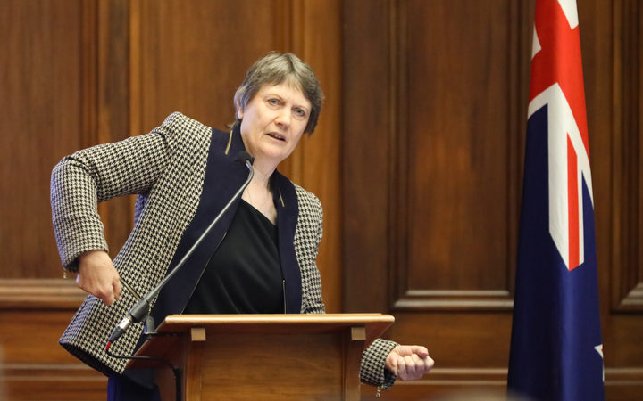 Helen Clark shows the billiard tables muscles used by male MPs