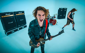 Still from Alien Weaponry's video for 'Whispers'