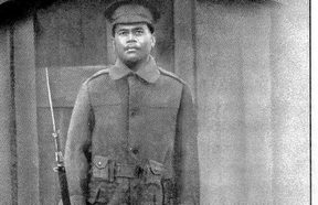 Private Pimeleko of Mutalau. He sailed from Auckland to Egypt, then France, returning from Hornchurch on the Arawa in July 1916