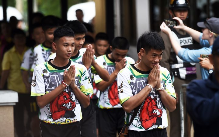 Thai boys leave hospital and speak about their rescue from cave