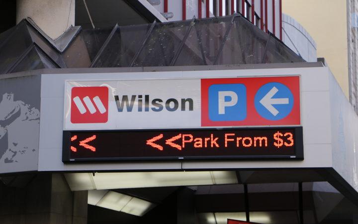 Wilson Parking signage, Queen Street