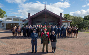 The NZDF Coningent travelling to Belgium to participate in the Beligian National Day Parade in Brussels.