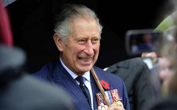 Britain's Prince Charles speaks to members of the public at the National War Memorial in Wellington on November 4, 2015.