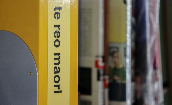 Yellow folder with Te Reo on the spine