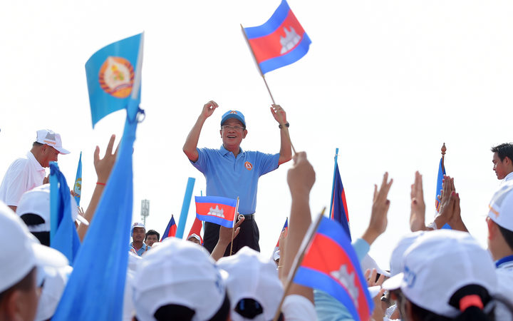 Cambodia at a crossroads after election termed a 'mockery of democracy'