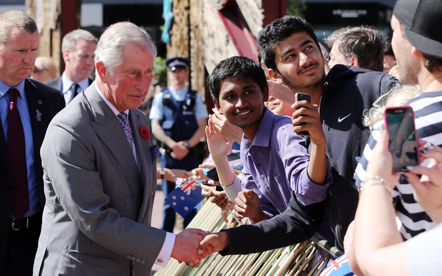 Prince Charles takes a selfie with a young fan