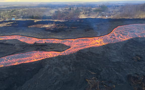 Lava flow from the Kilauea Volcano in June.