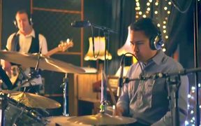 Simon Bridges on drums in his promotional video for the National Party conference.