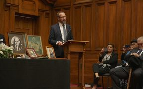Treaty Negotiations Minister Andrew Little at the Pare Hauraki Collective Settlement signing.