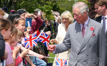 Prince Charles and Camilla greet fans in New Plymouth