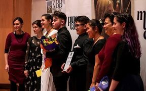 Te Ahi Kaa, winners of the NZCT Chamber Music Contest 2018 and adjudicators
