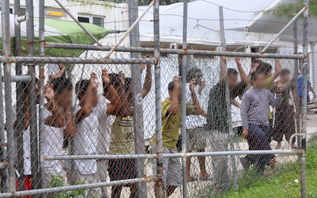 Detainees on Manus Island