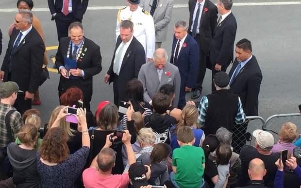 More than 2000 people turned out to see Prince Charles in Westport.