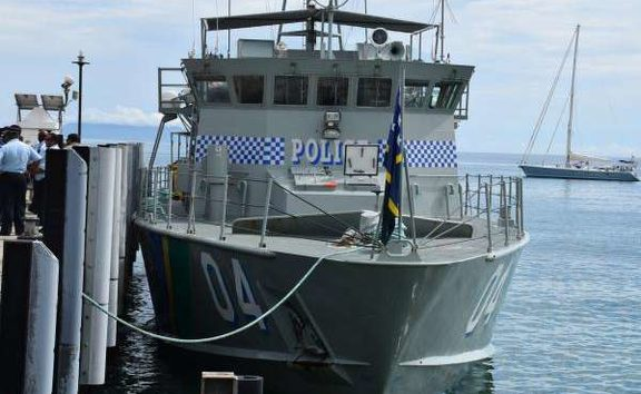 Solomon Islands police boat.