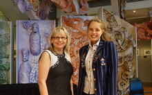 Science Teacher Prize winner Tania Lineham (left) and Future Scientist Prize winner, secondary school student Georgia Lala (right).