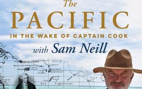 "cover of the book ""The Pacific: In the Wake of Captain Cook with Sam Neill"""