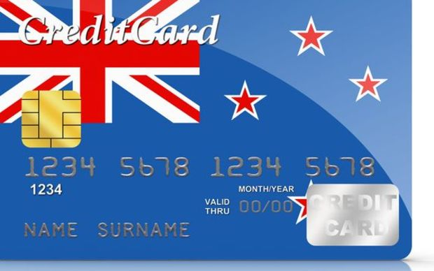 New Zealand flag on credit card