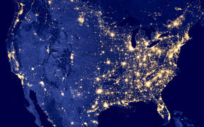 America by night - Elements of this image are furnished by NASA.